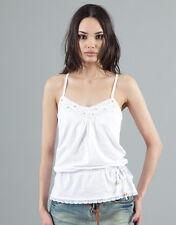 PHARD optic white top tank singlet t-shirt maglietta canotta donna bianca M BNWT