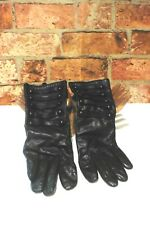 M&S WOMEN'S BLACK SOFT LEATHER GLOVES SIZE S / M R100