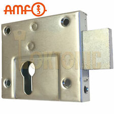 AMF 49Z Gate Shed Van Garage Lock Double Throw Zinc Plated Rim Euro Deadcase