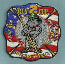 MEMPHIS TENNESSEE FIRE DEPARTMENT RESCUE COMPANY 2 PATCH BULLDOG