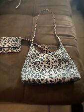 Nine West Brand small Purse Leopard Print Handbag with mini attachable wallet