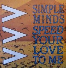 "SIMPLE MINDS - Speed Your Love To Me - 7"" Single PS"