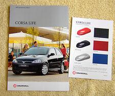 "Vauxhall Corsa C ""LIFE"" édition spéciale brochure avril 2002"
