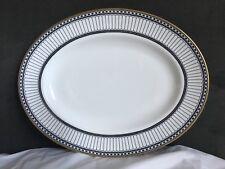 """Wedgwood Colonnade-Black 15""""  Oval Serving Platter"""