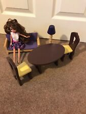Wooden Dolls House Furniture For Barbie Size Doll