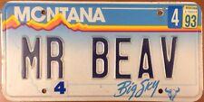 MT vanity MR BEAV BEAVER license plate Bean Narnia Mel Gibson Wild Animal Castor