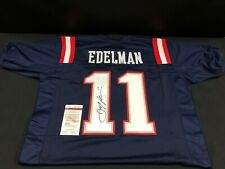 JULIAN EDELMAN NEW ENGLAND PATRIOTS SIGNED BLUE JERSEY JSA WITNESS WP452501