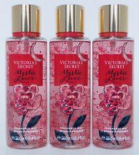 3 VICTORIA'S SECRET MYSTIC LOVER WILD ROSE FRAGRANCE MIST BRUME PARFUMEE 8.4oz