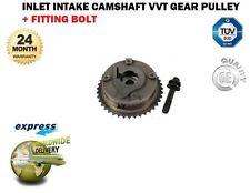 FOR BMW + MINI 11367545862 INLET INTAKE 1X CAMSHAFT VVT ADJUSTER PULLEY + BOLT