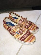 Vans X Pendleton Wool Yellow Native Tribal Print Era Shoes 10.5 Rare Blanket