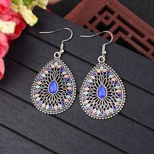 Colorful Water Drop Ethnic Drop Dangle Earrings Women Vintage Bohemian Earrings