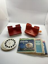 GAF View-Master Vintage plus 3D Viewer w Reels Cinderella Mary Poppins MORE LOT