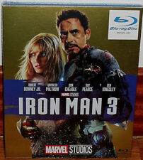 IRON MAN 3 SLIPCOVER COVER CARTON BLU-RAY NEW ACTION MARVEL (UNOPENED) R2