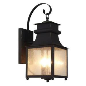 Stewart Medium 2-Light Outdoor Weather Bronze Incandescent Wall Lantern Bel Air