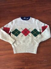 POLO Ralph Lauren Argyle  Knitted Sweater /Wool LARGE Vintage