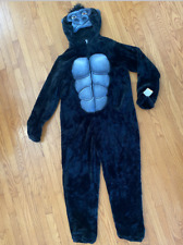 Gorilla Costume Adult XL 1pc Hooded