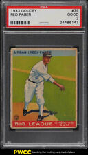 1933 Goudey Red Faber #79 PSA 2 GD