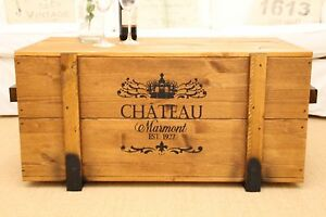 Chest Coffee Table Solid Wood Living Room Truhentisch Box Vintage Shabby' M