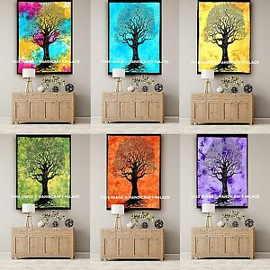 5 PC Wholesale Lot Tapestry Indian Wall Hanging Tree of Life Mandala Throw Decor