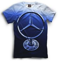 Mercedes benz logo t-shirt HD high quality print sports car fans