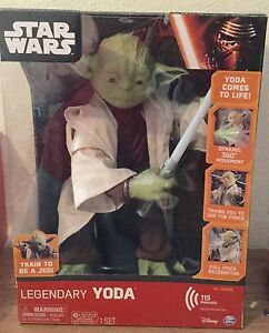 Star Wars Episode 7 Force Awakens Legendary Jedi Master Yoda Interactive Figure