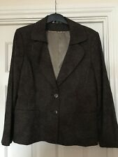 LADIES KLASS BROWN JACKET SIZE 18 IMMACULATE CONDITION