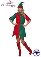 Ladies Christmas Xmas Elf Santas Helper Fancy Dress Costume 12 - PLUS Size 22 AU