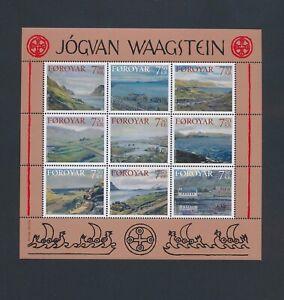 XC57816 Faroe Islands Jogvan Waagstein paintings good sheet MNH