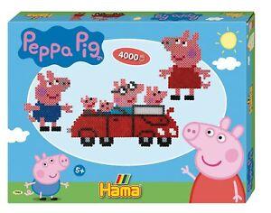 NEW Hama Peppa Pig Gift Box 4000 Beads 2 Large Pegboards