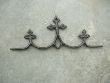 """ANTIQUE CAST IRON SALVAGED CROSS ORNAMENT FENCE TOPPER FINIAL 13.25"""" LONG"""