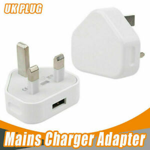 USB Wall Charger Adaptor UK Plug 5V 1A For iPhone X XR Max Pro 6s 7 8 Plus 11 12