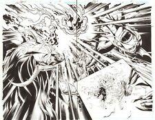 Trinity #51 pgs14&15 -Morgan le Fey vs. Despero DPS 2009 art by/singed by Bagley