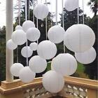 "White 6""8""10""12""14""Chinese Paper Lantern Wedding Party Decoration Halloween Xmas"