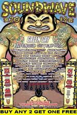 SOUNDWAVE 2014 Laminated Australian Tour Poster