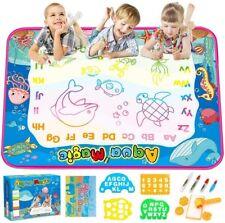 "Aqua Magic Doodle Mat 40"" x 30"" Water Drawing Doodling Mat Learning Toy Coloring"