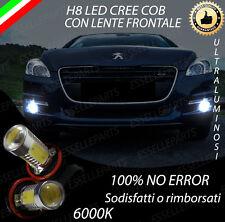 COPPIA LAMPADE FENDINEBBIA H8 LED CREE COB CANBUS PEUGEOT 508 6000K