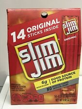 Slim Jim Original Smoked Snack Sticks 14 Stick Box 3.92 oz Jims