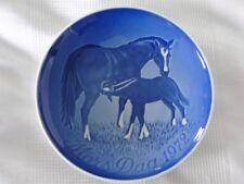 B&G COPENHAGEN PORCELAIN-1972 MOTHERS (MORS) DAY PLATE-MOTHER HORSE & COLT