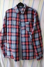Mens Shirt By New Look Size Medium Multi Coloured Check Roll Sleeve