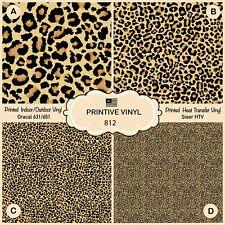 Leopard Patterned iron on Vinyl, Htv, Printed Htv, Adhesive Vinyl 812