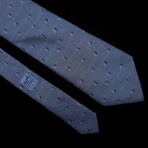 HERMES 7825 UA Men's Light Blue Polka Dot 100% Silk Tie France