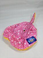 "Goffa Stingray Plush Stuffed Animal Toy pink/yellow  w/Tags 14"" Ocean Sea Life"