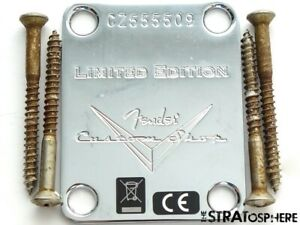 Fender USA Custom Shop Logo Poblano Relic Stratocaster NECK PLATE, Strat