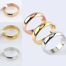 Nice Lady Rings Titanium Steel Band Engagement Wedding Ring Plain Width4.5mm