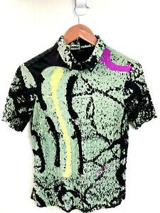Jaime Sadock Women's Medium Short Sleeve 1/4 Zip Golf Tennis Top Abstract