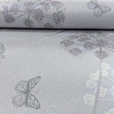 Kitty Floral Pattern Glitter Wallpaper Flower Butterfly Motif Textured Vinyl