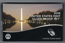 USA: United States Mint Silver Proof Set 2019, 2,91 Dollar, 10 Münzen, Silber