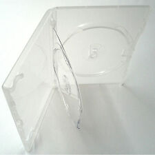 1 X Genuino Amaray Triple DVD caso claro con Doble Bandeja 14mm De La Columna Nuevo