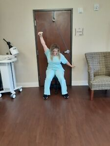 Overhead Shoulder Pulley Frozen Physical Occupatuonal Therapy over door Rehab