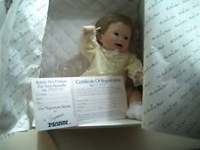 "Playing Footsie Danbury Mint Porcelain Doll 10"" 1990"